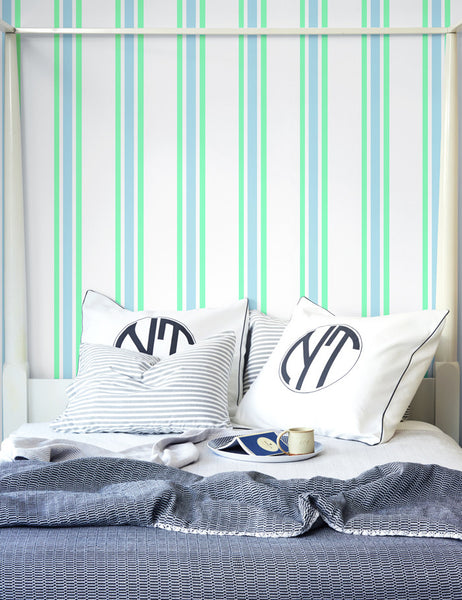 Between the Lines Removable Wallpaper - Jade - Wallshoppe