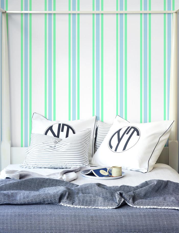 Between the Lines Wallpaper - Jade - Wallshoppe