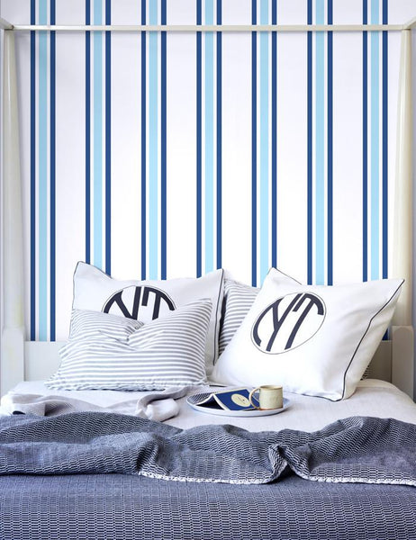Between the Lines Wallpaper - Ultramarine - Wallshoppe