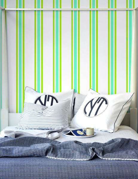 Between the Lines Removable Wallpaper - Chartreuse - Wallshoppe