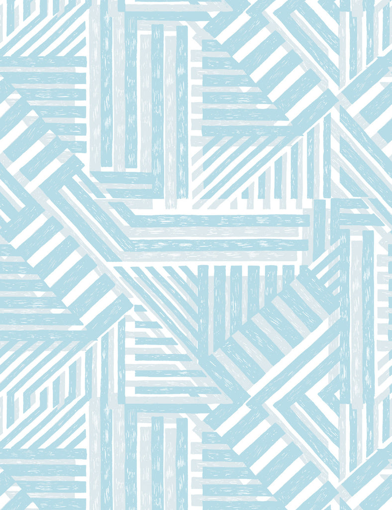 Bloc Wallpaper - Light Blue - Wallshoppe