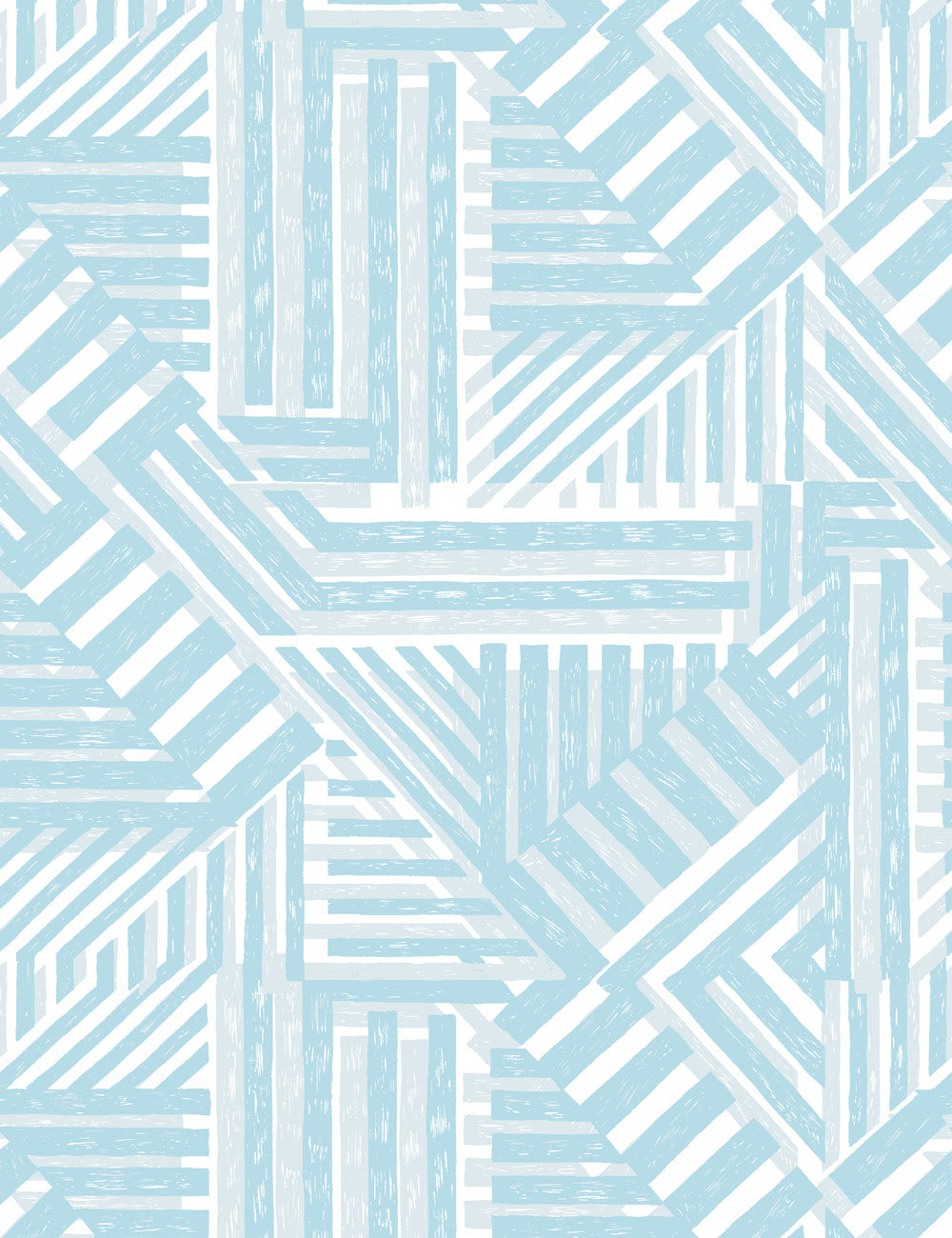 Bloc Elephant Light Blue  Wallpaper