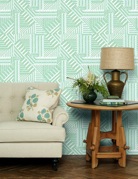 Bloc Wallpaper - Aventurine - Wallshoppe