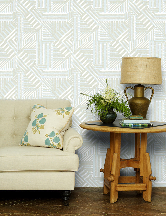 Geometric removable wallpaper