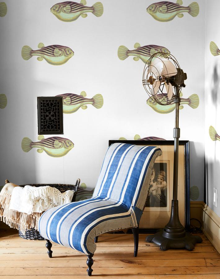 Blowfish Removable Wallpaper - Multi - Wallshoppe
