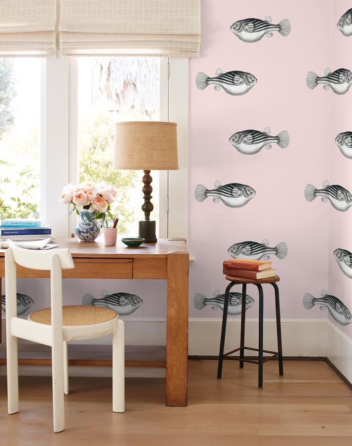 Blowfish Removable Wallpaper - Shell - Wallshoppe