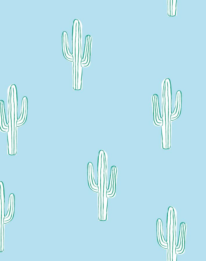 Cactus Baby Blue Wallpaper