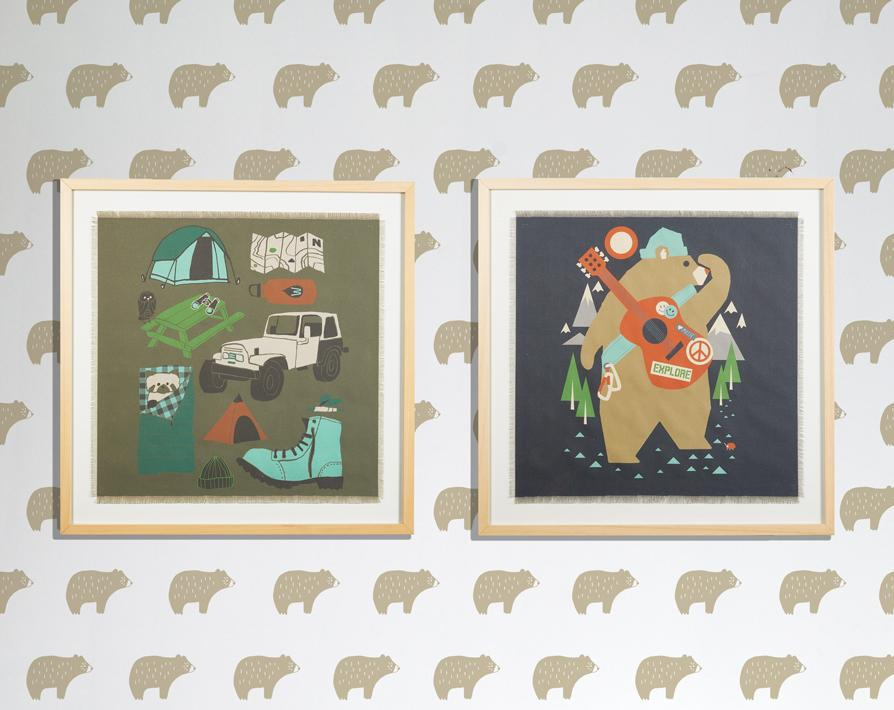 Artshoppe Camping Bear by Tea Collection