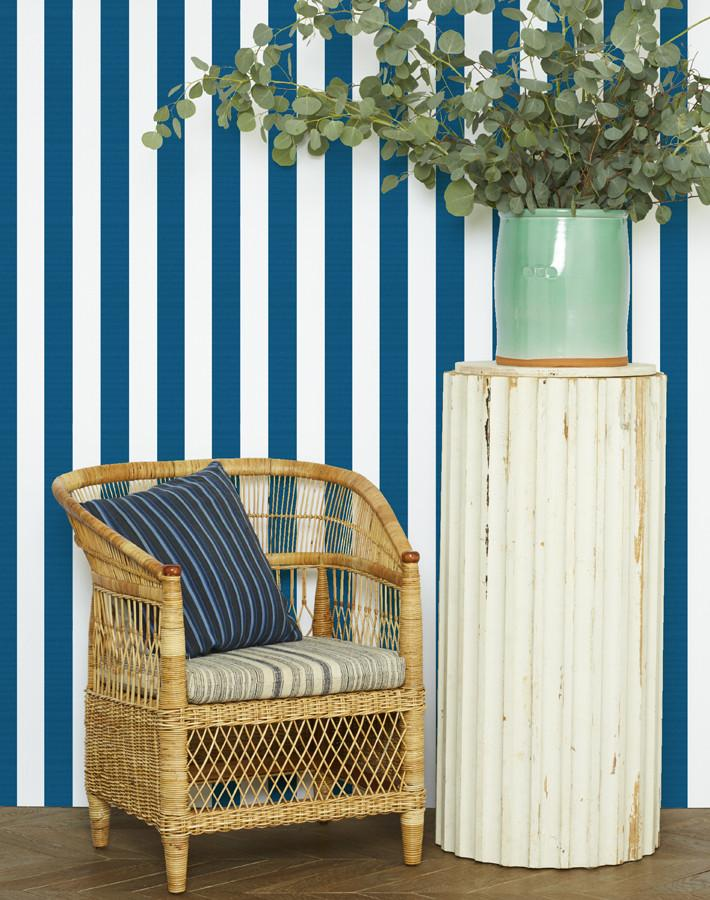 Candy Stripe Wallpaper - Blue - Wallshoppe