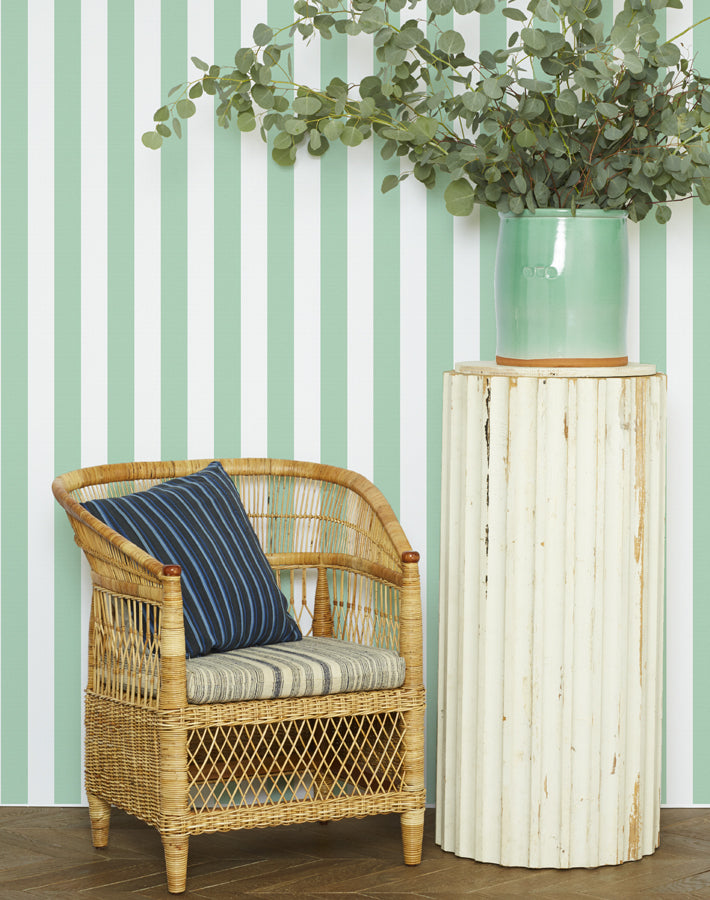 Candy Stripe Removable Wallpaper - Jade - Wallshoppe