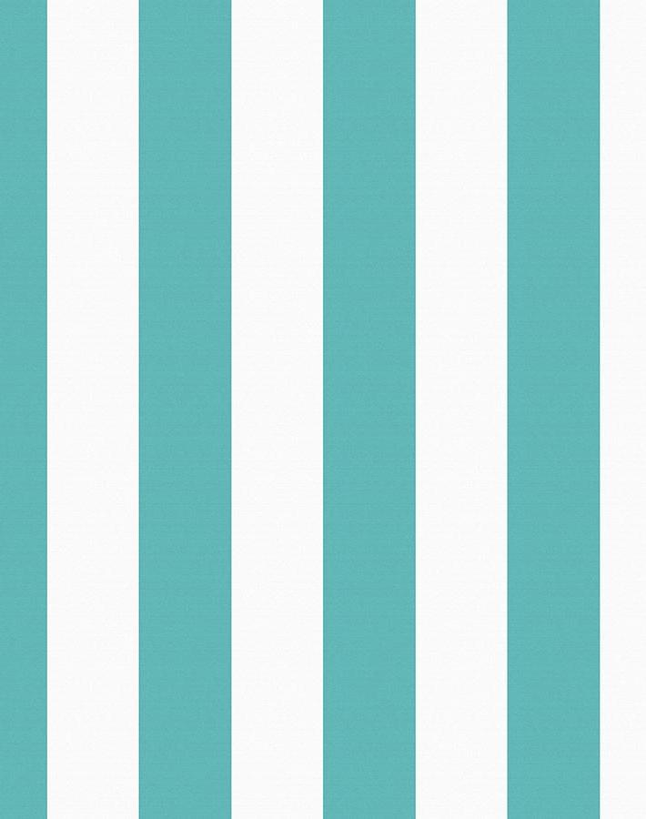 Candy Stripe Wallpaper - Teal - Wallshoppe