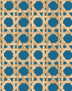 Caning Cadet Blue  Wallpaper