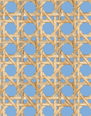 Caning Denim  Wallpaper