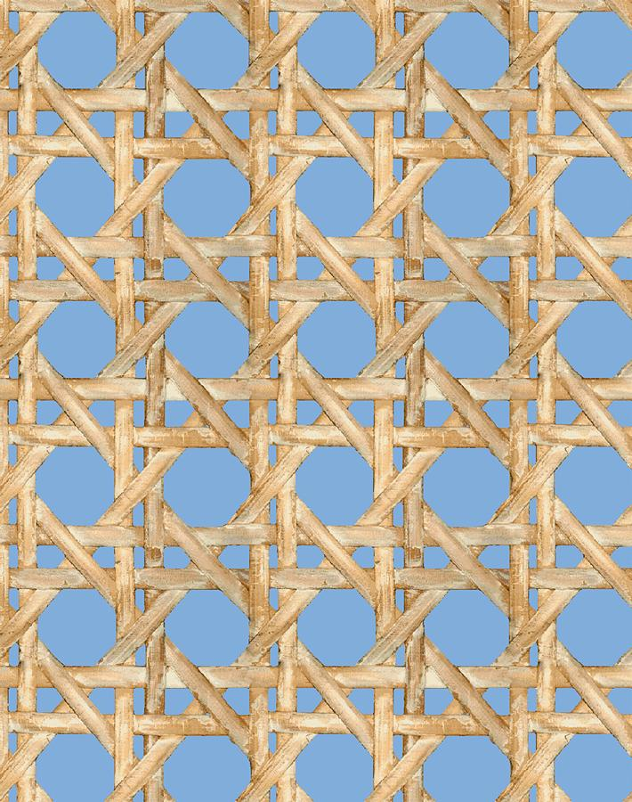 Caning Wallpaper - Denim - Wallshoppe
