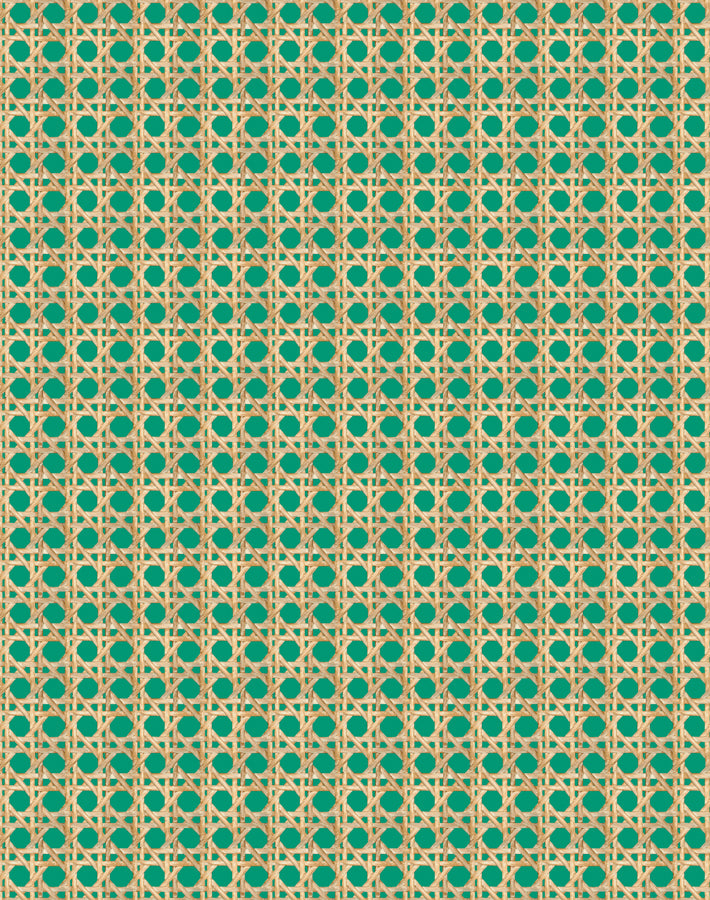 Caning Wallpaper - Emerald - Wallshoppe