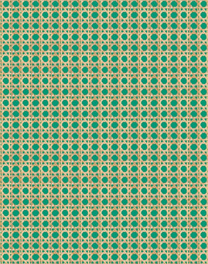 Caning Emerald  Wallpaper