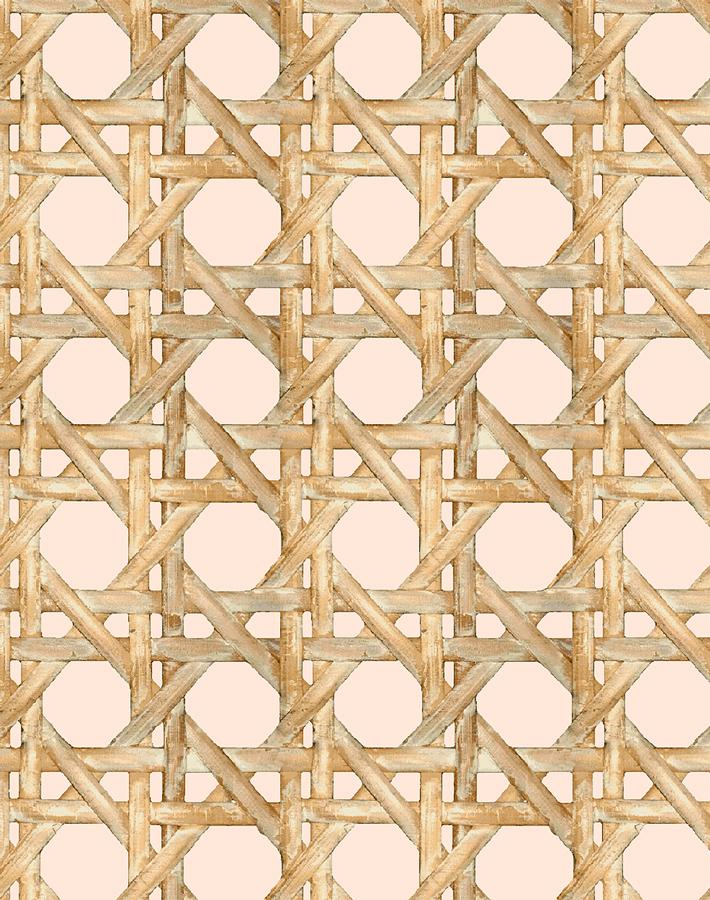 Caning Wallpaper - Peach - Wallshoppe