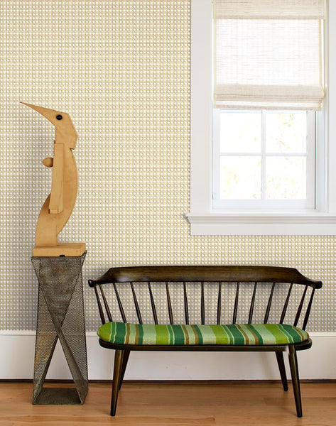 Caning Removable Wallpaper - Sesame - Wallshoppe