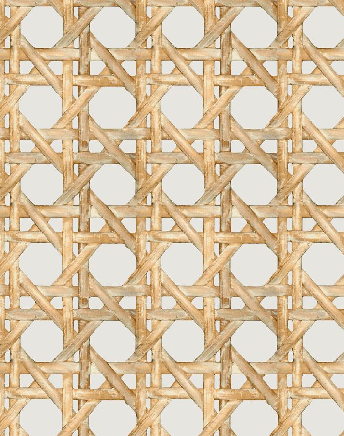 Caning Removable Wallpaper - Sand - Wallshoppe