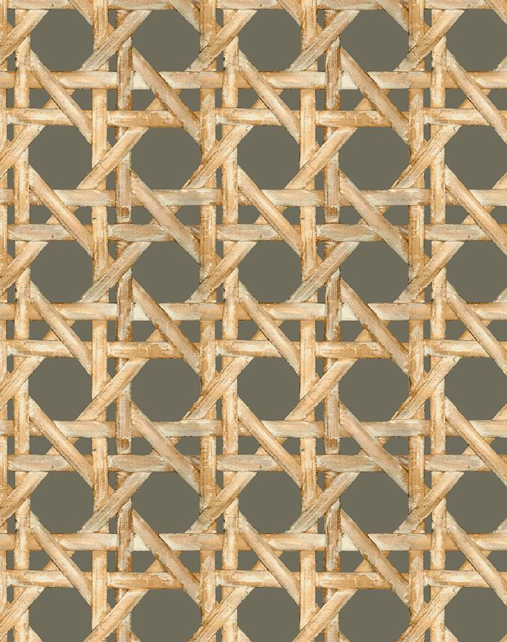 Caning Wallpaper - Umber - Wallshoppe