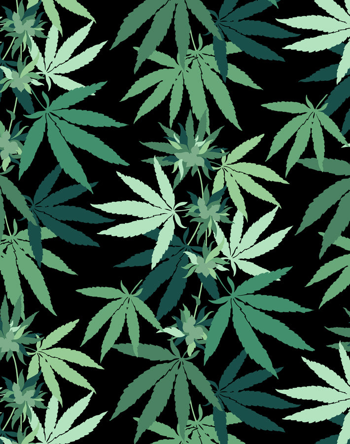 Cannabis Wallpaper - Onyx - Wallshoppe