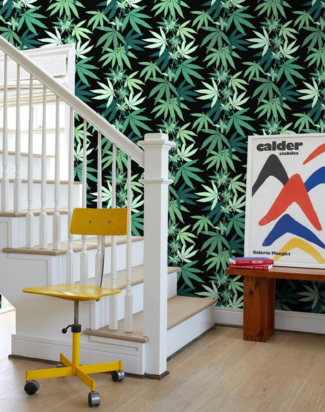 Cannabis by Nathan Turner - Onyx - Wallshoppe