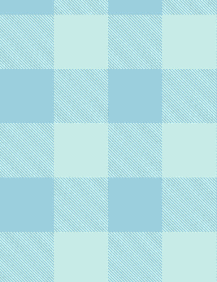 Check, Baby, Check - soft blues - removable wallpaper panel - Wallshoppe