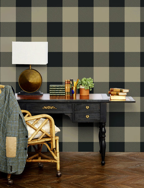 Checkered removable wallpaper