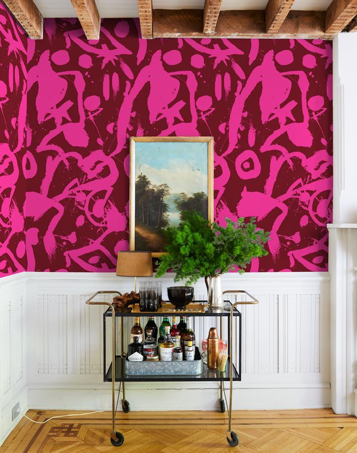 El Quijote Magenta Deep Red Wallpaper