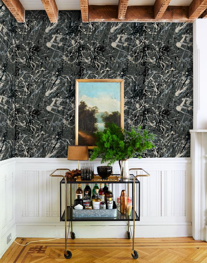 Pratt Paint Charcoal  Wallpaper