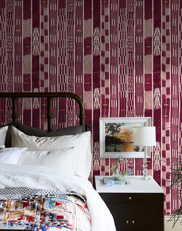 Madison Stripe Aubergine  Wallpaper