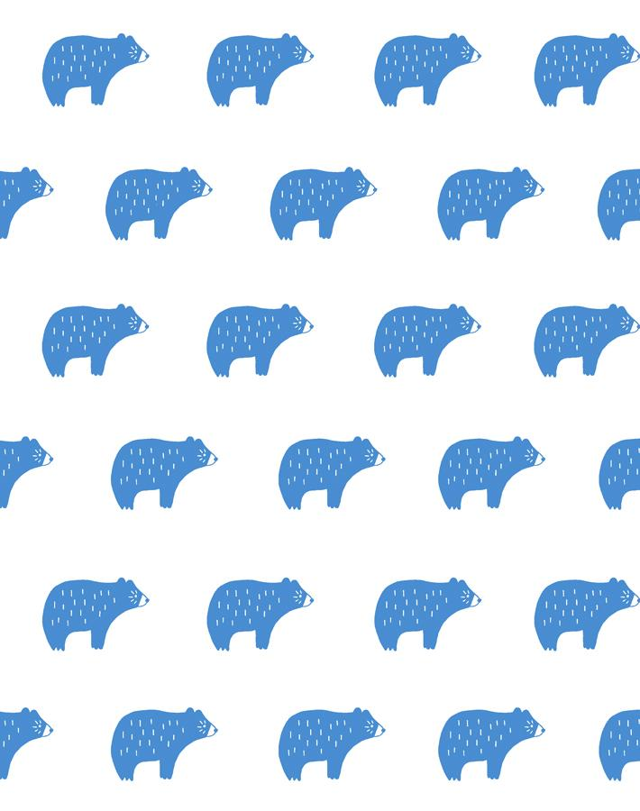 Chubby Bear Cerulean  Wallpaper