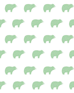 Chubby Bear Green  Wallpaper