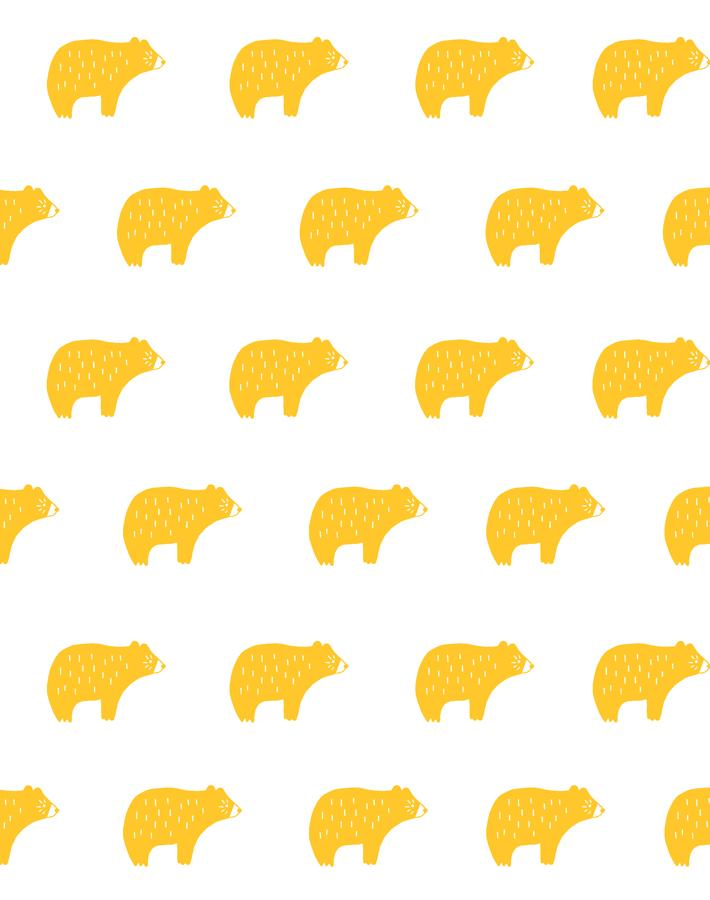 Chubby Bear Marigold  Wallpaper