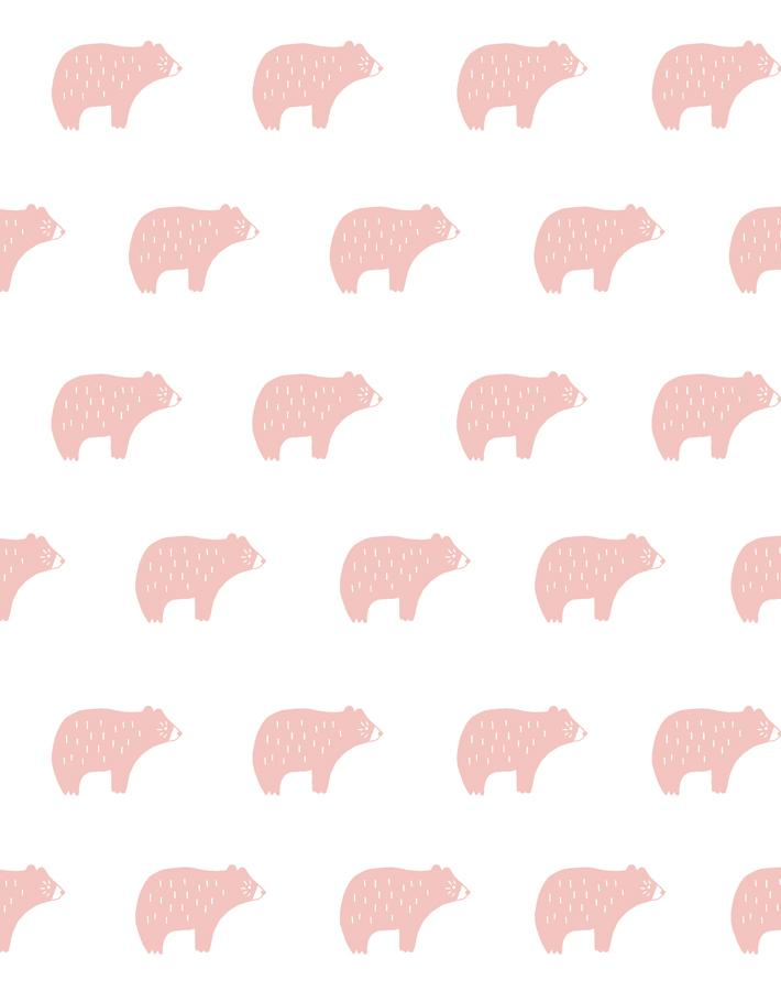 Chubby Bear Pink  Wallpaper