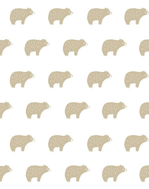 Chubby Bear Taupe  Wallpaper