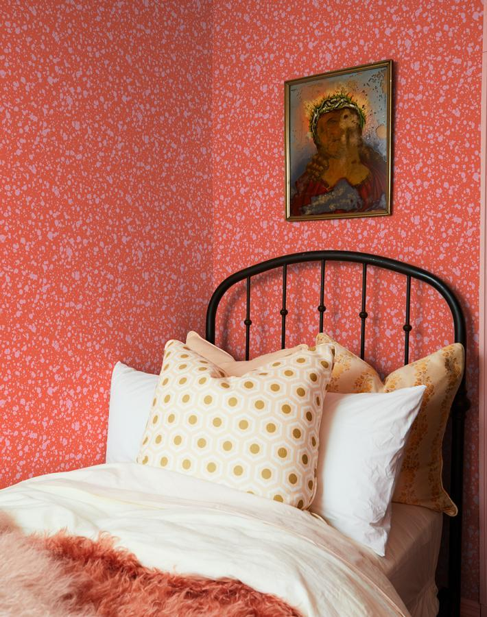 Corner Deli Persimmon  Wallpaper