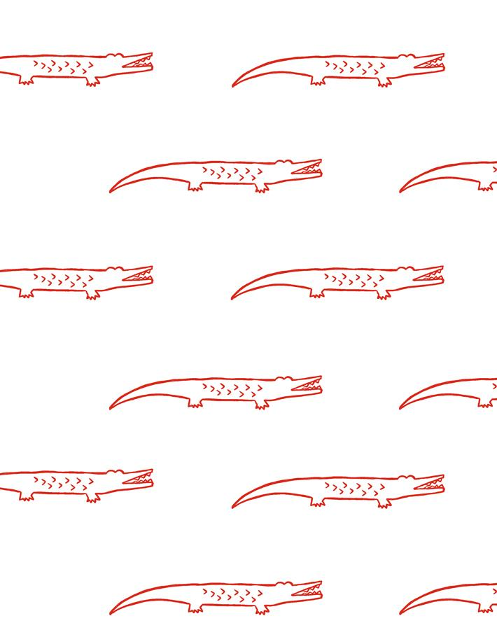 Crocodile Red  Wallpaper