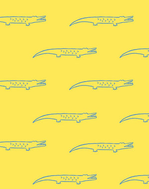 Crocodile Yellow  Wallpaper