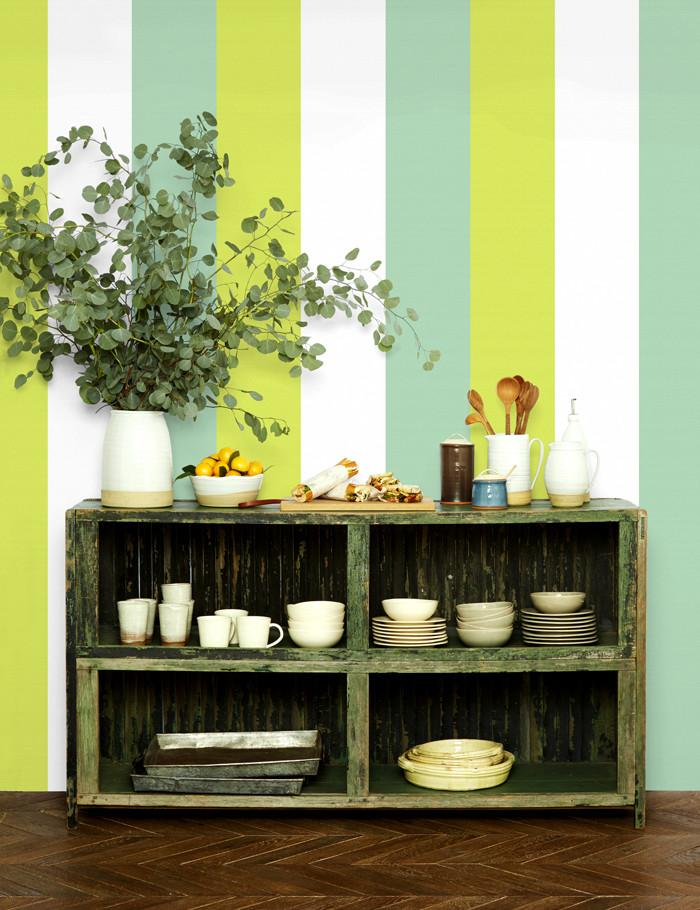 Cross the Line Wallpaper - Lime - Wallshoppe