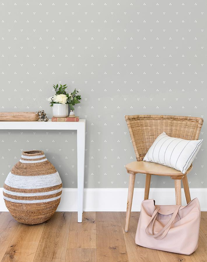 Dainty Dot Grey  Wallpaper