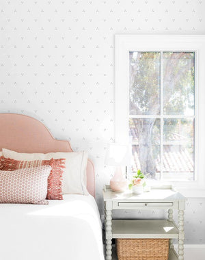 Dainty Dot Grey On White  Wallpaper