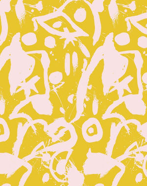 El Quijote Pink Yellow  Wallpaper