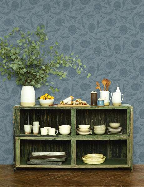 Eleanor Rigby Wallpaper - Gray - Wallshoppe