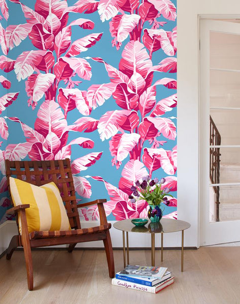 Electric Palm Wallpaper - Pool - Wallshoppe