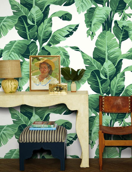 Pacifico Palm Ivory Wallpaper