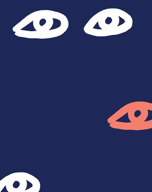 Eyes Navy  Wallpaper