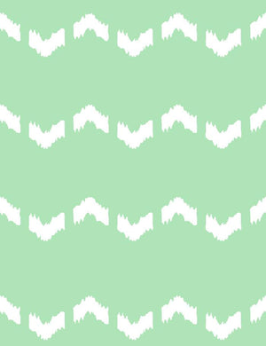 Fes Zag Mermaid Green  Wallpaper