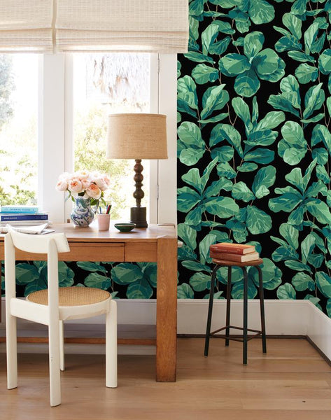 Fiddle Fig Onyx Wallpaper