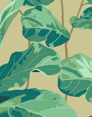 Fiddle Fig Bamboo  Wallpaper